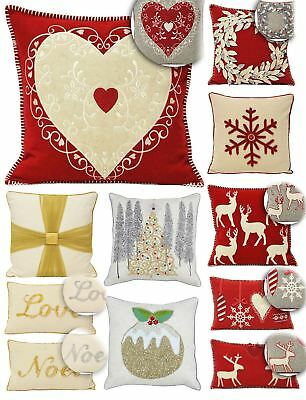 Paoletti Christmas Cushion Cover Scatter Case Festive Xmas Reindeer Snowflake