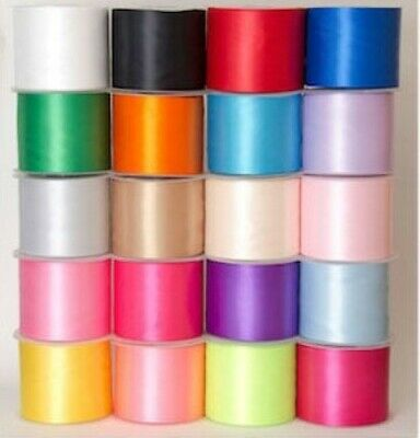 Satin Ribbon Wide Sash 4 inch 100mm 20 Colours  Wedding Hen Nights Partys