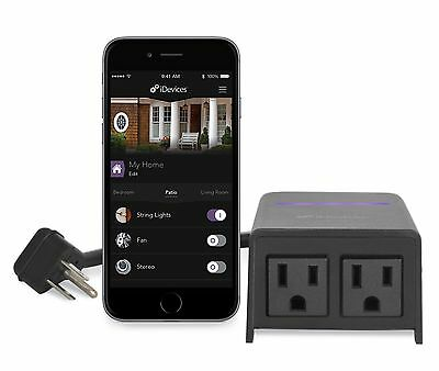 iDevices Outdoor Switch - Wi-Fi Enabled Plug for Outdoor Use, iOS App