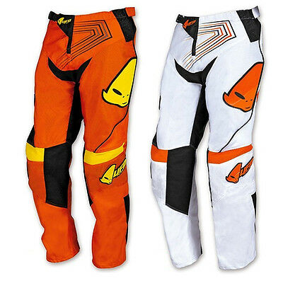 Pantaloni Ufo Moto Cross Iconic Off Road Enduro Bambino Arancio Bianco Tg 38 40