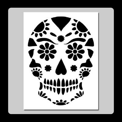 6 X 9 His and//or Hers Sugar Skull Face STENCIL Day of Dead//Man//Woman//Halloween