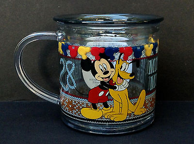 DISNEY Store MEAL TIME MAGIC Collection FUNFILL Cup 2015 MICKEY & PLUTO 6 oz NWT