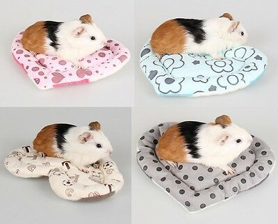 Soft Heart Shape Bed Small Animal Cage Mat Nest Hamster Guinea Pig Mice Sleeping