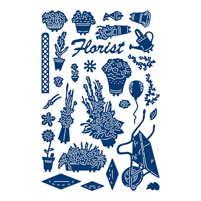 Tattered Lace Retail Therapy FLORIST - Essentials Die Set - ETL481 - FREE UK P&P