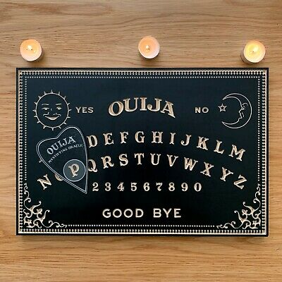 Ouija Board With Planchette. Classic Design, Real Oak. 50cm Wide. Weegie Spirit