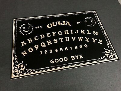 Black Ouija Board With Planchette. Classic Wood Design. Giant 900mm x 600mm
