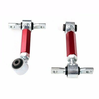 Red For 92-95 96-00 Honda Civic EG EK Racing Suspension Rear Upper Camber Kit
