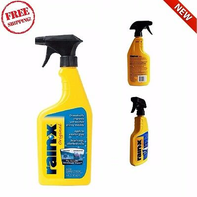 Rain X Windshield Solution Treatment Repels Water 16oz-New