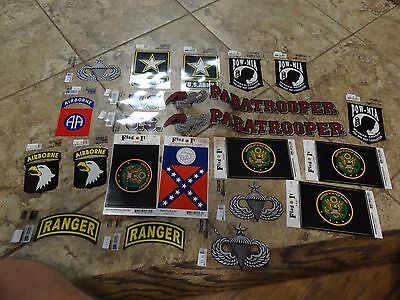 Set Of Stickers Decals Iron Ons Us Army Ranger Airborne Paratrooper Jump Wings