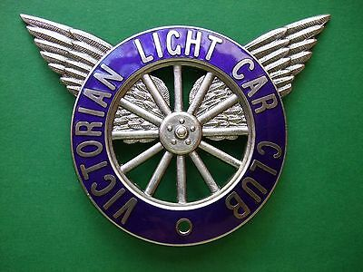 Grille/bumper Badge - Victorian Light Car Club - Rare