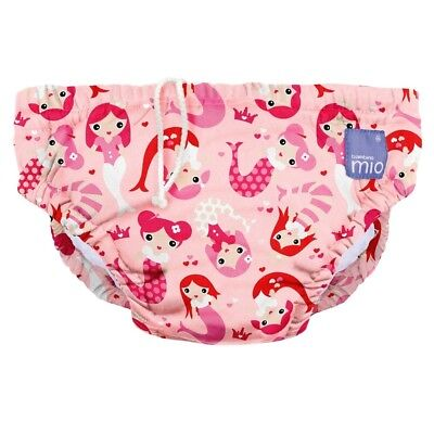 NEW Pink Mermaid Design Reusable Baby Swim Nappy Large by Bambino Mio