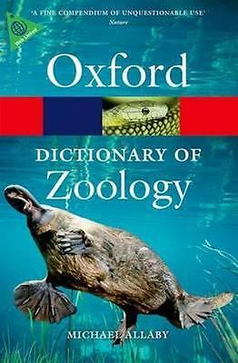 NEW A Dictionary of Zoology By Michael Allaby Paperback Free Shipping