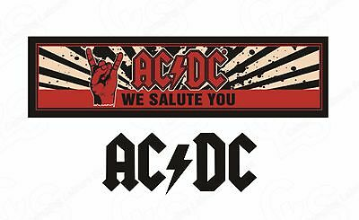 ACDC We Salute You - Bar Runner Mat - Rubber Backed- Great Gift Idea