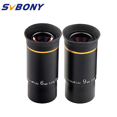 "Fully Multi-Coated 1.25"" 31.7mm 6mm+9mm U/W Angle Eyepiece Set for Telescope Hot"