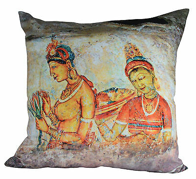 Ancient Sigiri Art Photo Printed High Quality Double Sided Cushion Cover CC3D103