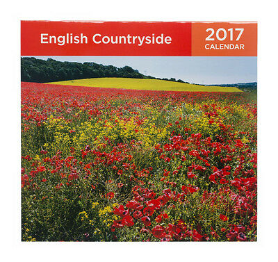 WHSmith English Countryside Premium Square Wall Calendar 2017 Month To View