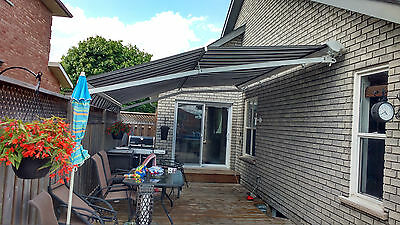 "High quality Motorized Retractable Awning 16' x 11'6"" with Cassette"