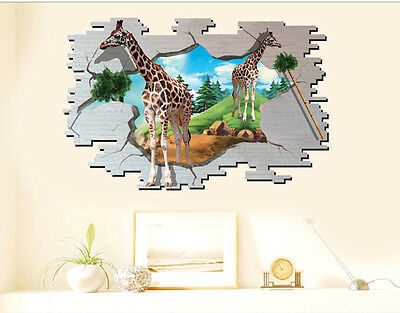 3d wandtattoo delfine im ozean wandsticker kinderzimmer deko wanddurchbruch loch eur 13 45. Black Bedroom Furniture Sets. Home Design Ideas