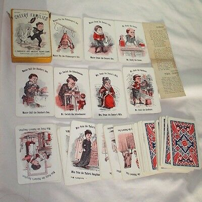 The St Michael Juvenile CHEERY FAMILIES Playing Card Round Game. Vintage