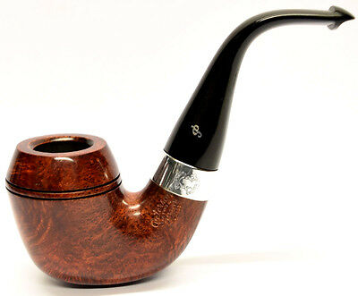 Peterson Sherlock Holmes Watson Smooth Finish Silver Mounted Pipe 9mm Filter