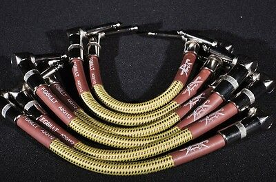Fender Custom Shop Patch Cables (6-Pack) Tweed  Rt Angle
