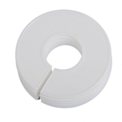 White Round Size Hanger Rack Dividers - 25 Pcs  - Fits Round Or Square Tubes