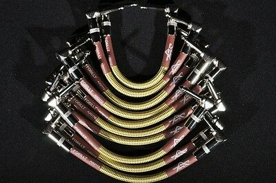 Fender Custom Shop Patch Cables (10-Pack) Tweed  Rt Angle