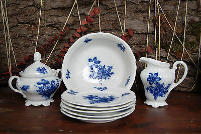 Hutschenreuther Hohenberg Germany Porcelain Blue Willow Dish Set