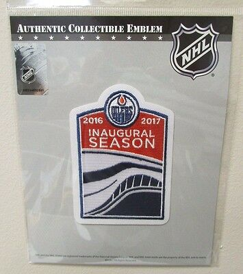 Edmonton Oilers Inaugural Season 2016 Rogers Place Hockey Jersey Patch Emblem