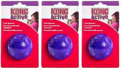 3 x Kong Cat Treat Ball Interactive Cat Kitten Toys Play Time Fill Activity Fun