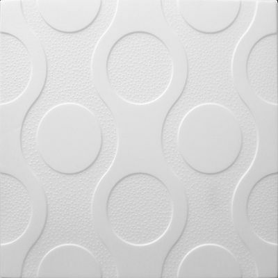 POLYSTYRENE TILES  PANELS WALL CEILING (Pack of 24) 6 Sqm - WHITE