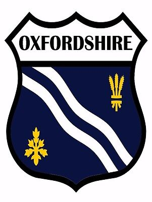 2 x Oxford Shield Flag Decal Car Motorbike Laptop Window Sticker - Free P & P