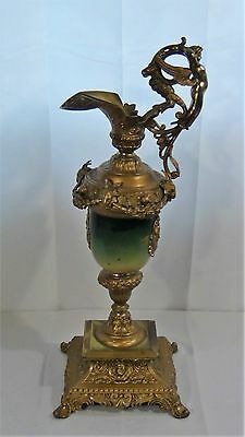 ANTIQUE 19c FRENCH RARE BRONZE GILT ORMOLU VERY ORNATE EWER