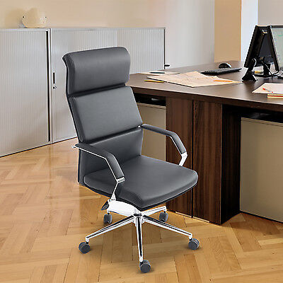 HOMCOM Office Chair PU Leather Ergonomic Executive Task Computer Seat Swivel
