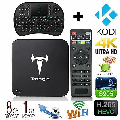 [Free Backlit keyboard + Mouse] Trongle S2 Android V5.1 TV BOX Amlogic S905 CXX