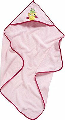 Playshoes Frottee-Kapuzentuch Eule, Accappatoio Bambina, Rosa (Rosa), Taglia Uni