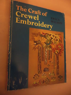 the craft of crewel embroidery OLD VINTAGE 1970S BOOK ARTS CRAFTS ERICA WILSON