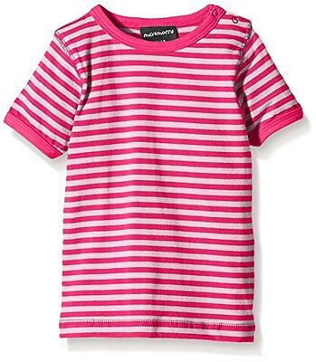 Maxomorra - BASI-M145 Top SS Striped, T-Shirt unisex bimbi, Multicoloured/Pink,