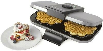Double Waffle Maker Electric Machine Non Stick Plates Home Kitchen Appliance