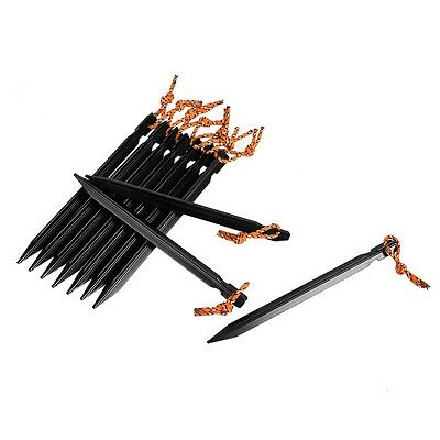 10pcs 18CM Camping Tent Stakes Aluminum Triangular Trip Ground Nails Tent Pegs