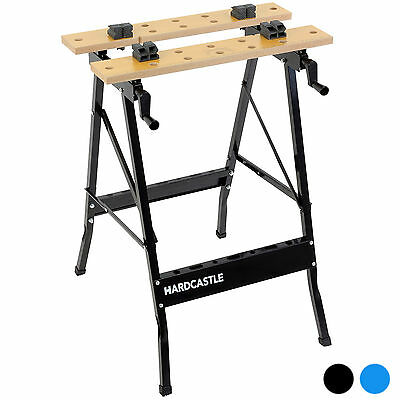 Hardcastle Folding Trestle Work Bench Stand Mate Foldable Table Clamp Workbench