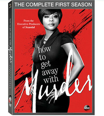 How To Get Away With Murder: Complete First Season - 4 DISC SET (2015, DVD New)