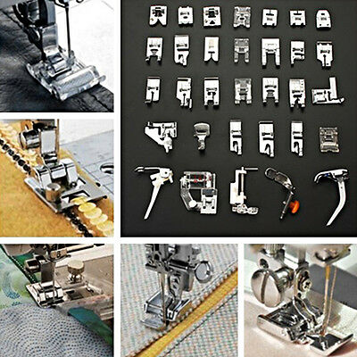 32PCS Useful Sewing Machine Presser Foot Feet Set For Brother Janome Singer ST