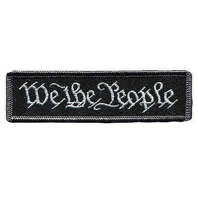 2016 We The People New Swat Military Tactical Patch Tape Army Morale Badge Black