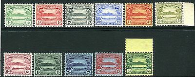 BRITISH SOLOMON ISLANDS-1908-11 Small Canoes UMM/MM set Sg 8-17