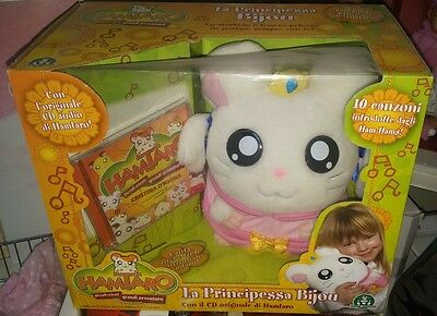 1 Box Anime/manga Hamtaro-Hamster Girl Plush The Princess Bijou/ribon + Cd Audio
