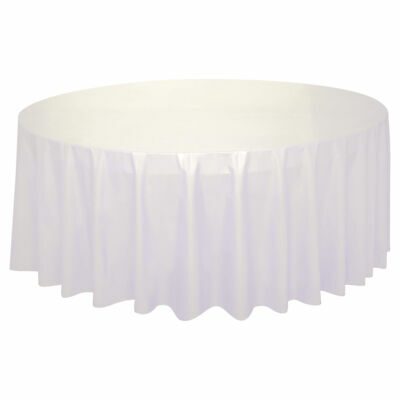 Tablecover Round White Wedding Tableware