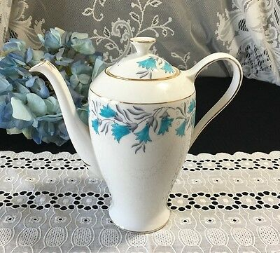 "Royal Standard ""Celebrity"" with Blue Scillas Flowers Coffee/Teapot 7 1/2"""