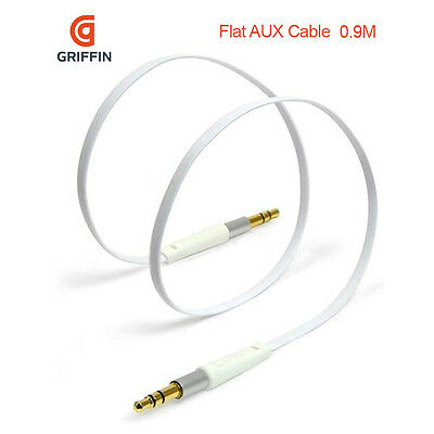 Griffin High Quality Aux Cable In Audio Stereo Jack Lead 0.9m Music MP3 Phones