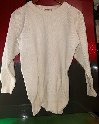 Vintage JAEGER sweater off white women's Medium classic style good condition